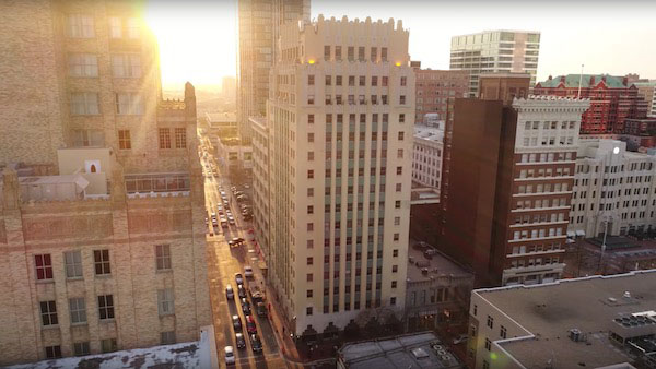 HISTORIC ART DECO BUILDING IN FORT WORTH IMPLEMENTS POE LIGHTING WITH NULEDS SPICEBOX™